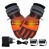 Per 7.4V Guantes Calefactables USB para Hombres y Mujeres Manoplas para Moto Esquí Guantes de Calefacción Accesorios Térmicos de Invierno (M)