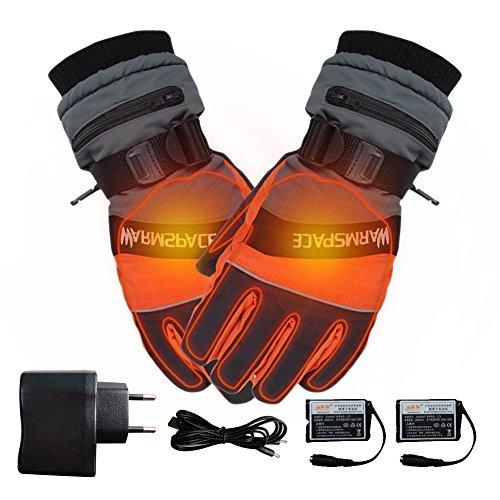 Guanti riscaldati a batterie ricaricabili, invernali, per sci, ciclismo, moto, per uomo o donna