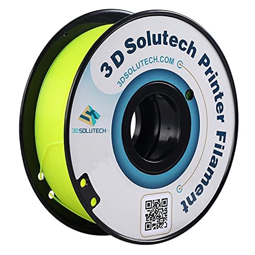 3D Solutech See Through Yellow 1.75mm PETG 3D Printer Filament 2.2 LBS (1.0KG) - PETG175YLW