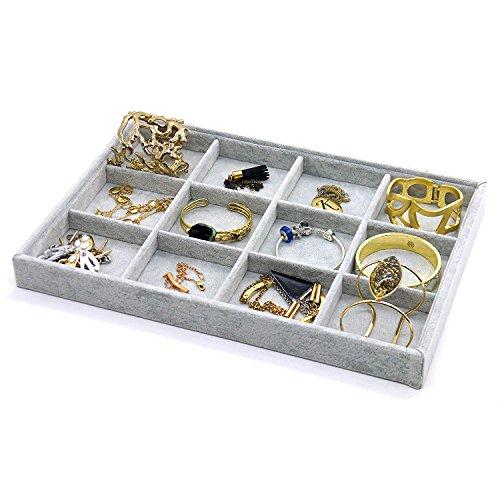 PuTwo Organizzatore per cassetti e gioielli, organizer impilabile, per gioielli, per gioielli, per riporre gli orecchini, per organizzare la collana