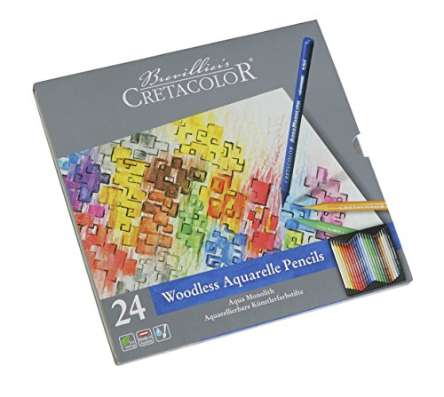 CRETACOLOR 250 24 Aqua Monolith - Bolígrafo de acuarela (24 colores)