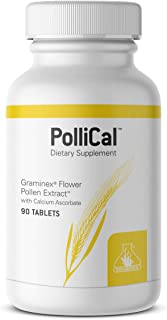 Graminex PolliCal Dietary Supplement - G60 Flower Pollen Extract, Calcium Ascorbate - All-Natural Antioxidant and Immune S...
