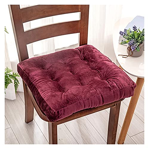 Meishikanka Chair Cushions - Square Outdoor Cushions Floor Pillow Thicken Tufted Patio Chairs Pad Outdoor Superior Breathable Com Fort And Softness Outside Seat Cover Washable (Color : Wine Red)