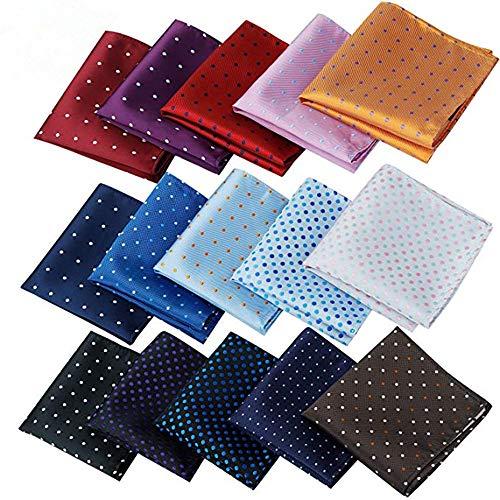 Alumuk Einstecktuch einfarbig - Tuch aus Polyester - Kavalierstuch Pochette Stecktuch - Taschentuch (15 kleine Punkte)