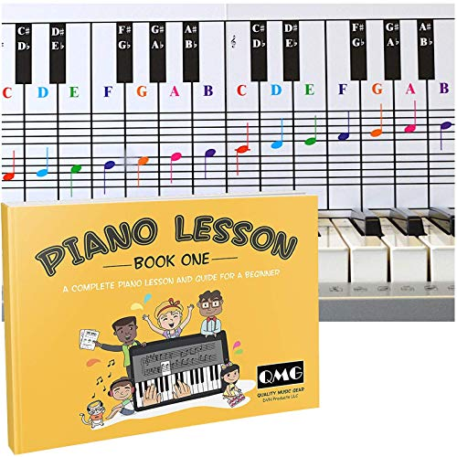 Piano and Keyboard Note Chart and Complete Color Note Piano Music Lesson and Guide Book for Kids and Beginners; Designed and Printed in USA