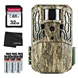 Primos AutoPilot 16MP No Glow Trail Camera + 32GB SD Card + 8 AA Batteries and Lens Cleaning Cloth