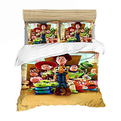 ZZALL Toy Story - Juego de funda nórdica y funda de almohada (135 x 200 cm + 1 funda de almohada de 50 x 75 cm, estilo 06)