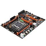 Desktop Computer Gaming Mainboard,LGA2011-3 DDR4 Mainboard for Intel X99 Chipset,PCB Mainboard with Sata Cable, Baffle 8 SATA2.0, SSD M.2 USB3.0 Port Support 4 DDR4 2133/2400/2800, 32GB Maximum