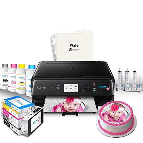 Icinginks Cake Printer Bundle System – Includes Icinginks Wireless Cake Ink Printer, Set of 5 Ink Cartridges, 50 Wafer Papers, Cake Ink Refill Bottles and 1 Set of Refilling Kit