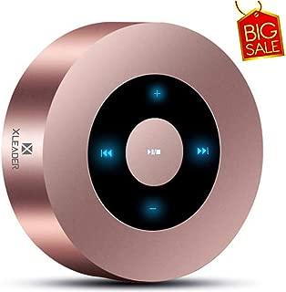[LED Touch Désign] Enceinte Bluetooth, XLEADER SoundAngel A8 (2e génération) Haut Parleur Bluetooth Portable by Leaderway US, avec Son 5W HD/Autonomie 15hrs, Or Rose [Étui Voyage Officiel Inclus]