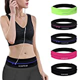 GEARWEAR Waistband Running Belt for Phone Holder Runner Accessories Pocket Pouch for Wallking Fitness Jogging Workout Gym Sports Travel Exercise Golf