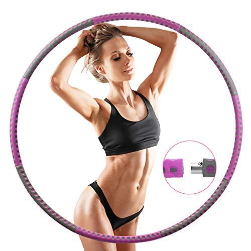 Mture Hula Hoop-Serie zur Gewichtsreduktion,Reifen mit Schaumstoff Einstellbares Gewicht Hula-Hoop-Reifen für Fitness (lila)