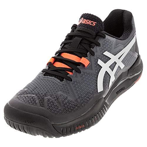 ASICS Gel-Resolution 8 L.E. Zapatillas de tenis para hombre, Negro (Negro/Rojo amanecer), 43.5 EU