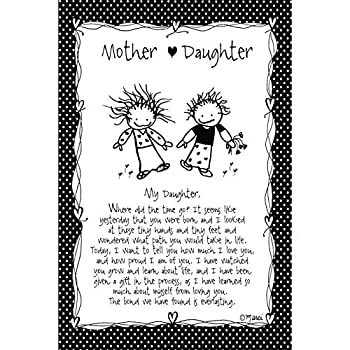 Mother/Daughter  for Daughter  Wood Plaque - Children of The Inner Light by Marci | Elegant Vertical Frame Wall Art & Tabletop Decoration | Easel & Hanging Hook | Measures 6 inches x 9 inches