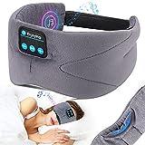 Bluetooth Schlafmaske, LC-dolida Schlaf Kopfhörer Musik Augenmaske Lichtblockierende Schlafbrille Schlafkopfhörer Headset mit Mikrofon-Freisprecheinrichtung für Reisen /Nickerchen/Schlafen/Yoga
