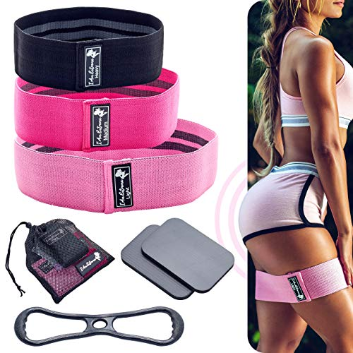 I Am Extrema Booty Bands Kit for Women, Glute, Leg, Thigh, Workout Lifter Set, Squat Band Bundle with Resistance Elastic Belt & Support Pads