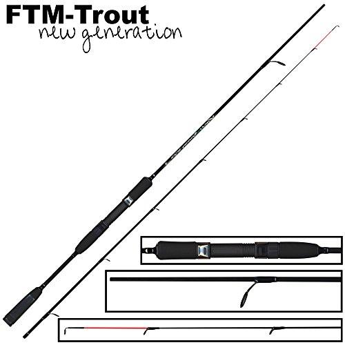 FTM Virus Spoon XP3 1,80m 1-8g - Forellen Spinnrute zum Spinnfischen mit Spoons, Ultra Light Rute zum Forellenangeln Forellenrute