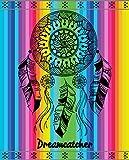 TEXTIL TARRAGO Toalla de Playa 100/% Algodon Egipcio 90x170 cm Mandala Multicolor EGP487