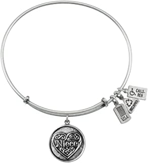 Wind and Fire Expandable Bangle Niece Brass