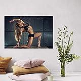 HHLSS Affiche d'art 50x70cm Pas de Cadre Bodybuilder Pose Muscles Mode de Vie Femme Fille Femme Fitness Art Affiche Yoga Salle Maison Gym décor