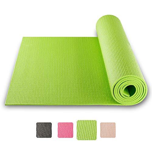 BODYMATE Tappetino da Yoga Universal Dimensioni 183x61cm – Spessore 5mm – Assenza di Sostanze dannose Quali ftalati, BPA e Metalli Pesanti certificata da SGS
