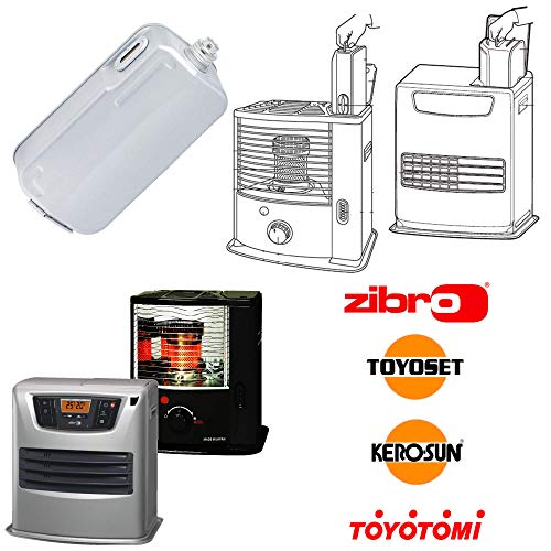 Zibro Serbatoio estraibile 4,7 Litri mod.  D  per stufe modello RCA-2800, RS-22 , RS-24 , RS-G24 , RS-29 , RS-30 , RS-122 , RS-220 , RS-221 , RS-240 , RS-290 , RS-2200 , RS-2210 , RC-270