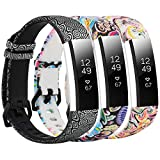 SZBAMI Floral Bands for Fitbit Alta/Alta HR Bands Women Man,Replacement Wristband Sport Strap Accessories Adjustable Fitbit Alta HR Band with Metal Clasp