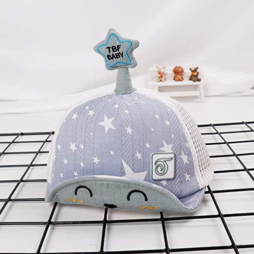 mlpnko Fünf-Sterne-Kinder net Hut Neue weiche Kappen Cartoon Kinder Hut Baby Sonnenhut Sonnencreme blau 48cm geeignet für 1-3 Jahre alt