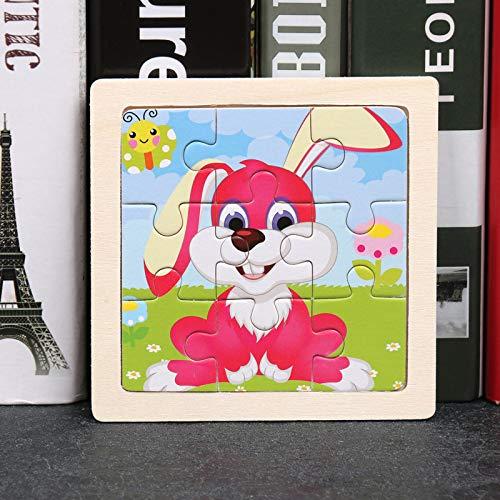 DSJDSFH Holzpuzzles Für 1 2 3-Jährige Kinderspielzeug-Puzzle Cartoon-Puzzle Kinderspielzeug Geeignet Für Jungen Und Mädchen Von 2 Bis 6 Jahren Lernspielzeug