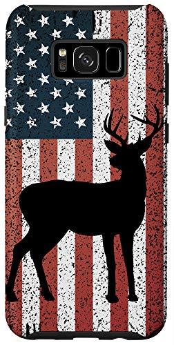 Galaxy S8+ Deer Hunting flag phone case American Deer Hunter US Flag Case