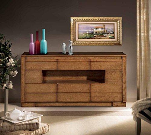 Buffet buffet Madia 2 portes latérales 1 tiroir Central 1 compartiment jour design moderne