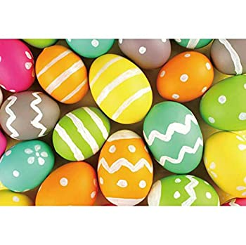 OFILA Easter Eggs Backdrop 10x8ft Easter Party Photography Background Easter Eggs Hunt Kids Easter Photo Shoot Spring Holidays Decor School Events Video Home Photography Props