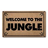 Welcome Mat with Rubber Back Welcome To The Jungle Funny Doormat For Entrance Way Personalized Mats For Front Door Mat No Slip Kitchen Rugs and Mats 20x32(IN)