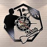 CVG Fléchettes Mur Art Homme Grotte Salle De Jeux Décoration Moderne Horloge Murale Fléchettes Pub Bar Fléchettes Jeu Night Club Disque Vinyle Horloge Murale