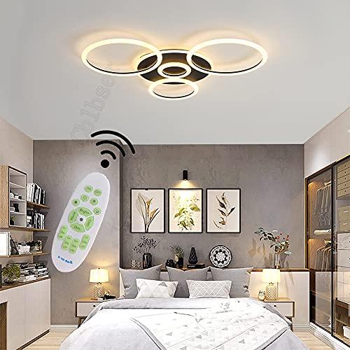 Lampara salon techo, Lampara decorativa de techo, Plafones de techo modernos, 64W 5120lm Con mando a...