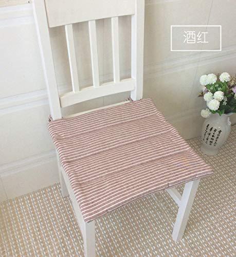 FKIHK SitzkissenJapan Style Dining Stuhlkissen Matte Pad, 4 Größen Bodenkissen Sitzmatte Pad, Home Decor Sitzkissen, Jiuhongse, ca. 48x48cm