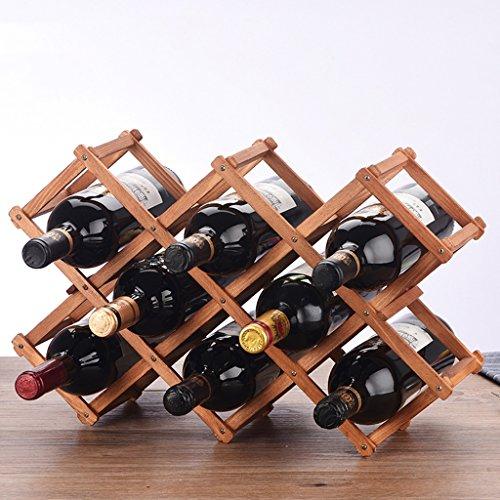 Support en bois de vin 10 bouteilles de vin, présentoir de bouteille de vin (Couleur : # 3)