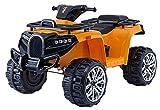 RIRICAR Electric Ride-On Quad ALLROAD 12V, Naranja, enormes Ruedas EVA Suaves, 2 x 12V, Motor, Luces LED, Reproductor de MP3 con USB, batería 12V7Ah