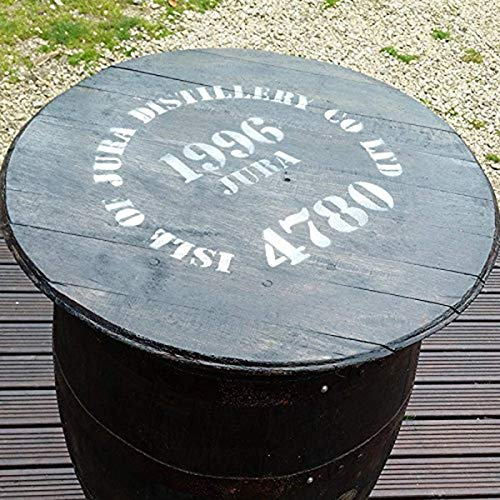 Cheeky Chicks Rustic Solid Oak Gerecycled Isle of Jura Whiskey Barrel Pub Table