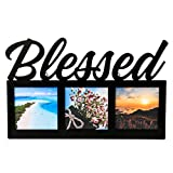 FASHIONCRAFT 88049 Blessed Picture Frame, Black Picture...