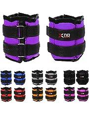 Xn8 Gewichtsmanchetten, Enkelgewrichten, Polsgewichten,Voet, Verstelbare Loopgewichtenset 1 kg tot 10 kg,Voor Fitness, Beweging, Hardlopen, Joggen, Gymnastiek