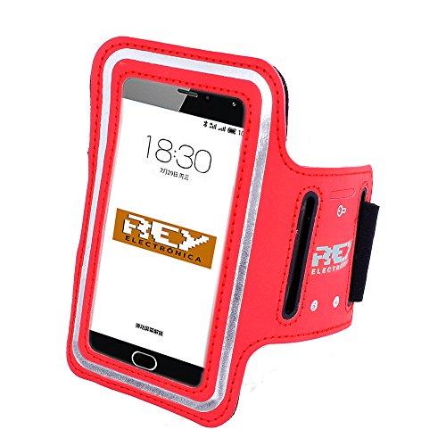 Brazalete Deportivo Reflectante para Smartphones Desde 4' hasta 5', en Color Rojo