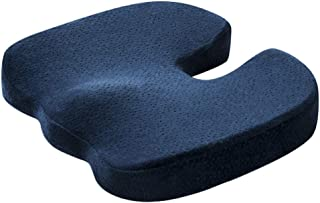 Back Pain Relief and Sciatica and Tailbone Quality Comfort Ideal Gift for Home Office Chair and Car Driver Seat Support Voberry Seat Cushion Memory Foam