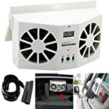 Transer Solar Powered Car Window Air Vent Ventilator Mini Air Conditioner Cool Fan (White)