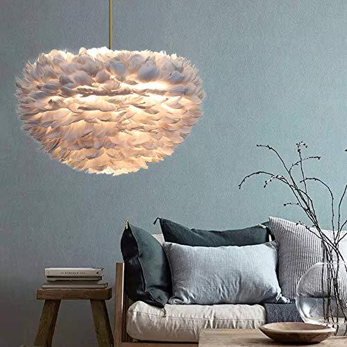 Federn Pendelleuchte Deckenleuchte Hängeleuchte Led Lampenschirm hänge leuchte für wohnzimmer schlafzimmer Decor 30 cm (E27 Nicht inbegriffen)