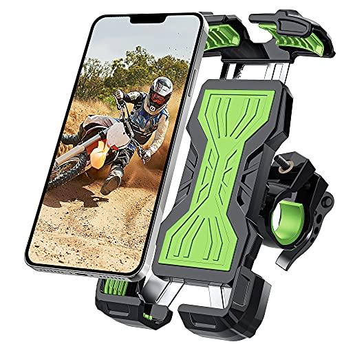 YockTec Soporte Móvil Moto Bicicleta, 360° Rotación Soporte Móvil Bicicleta, Soporte Móvil Bici para iPhone 12 Pro Max/11 Pro/XR/XS MAX, Galaxy S20/S10 y Todos los Dispositivos de 4.7-6.8 Pulgadas