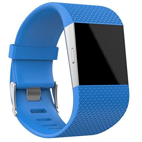 Fitbit Surge Armband, SHOBDW Ersatz-Armband-Band-Armband-Verschluss-Wölbungs-Werkzeug-Installationssatz für Fitbit Surge (Himmel blau, 160-190MM)