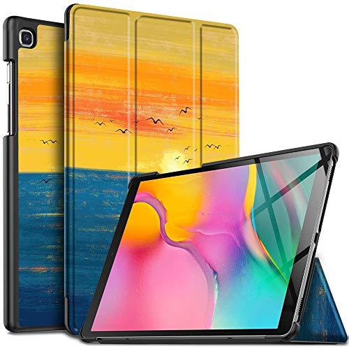 IVSO Hülle für Samsung Galaxy Tab A 10.1 2019 T515/T510, Ultra Schlank Slim Schutzhülle Hochwertiges PU mit Standfunktion Ideal Geeignet für Samsung Galaxy Tab A 2019 T515/T510 10.1 Zoll, CH-53