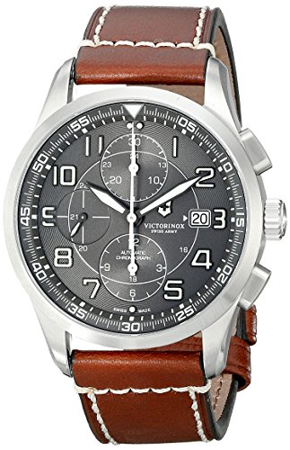 Victorinox Men's 241597 AirBoss Analog Display Swiss Automatic Brown Watch