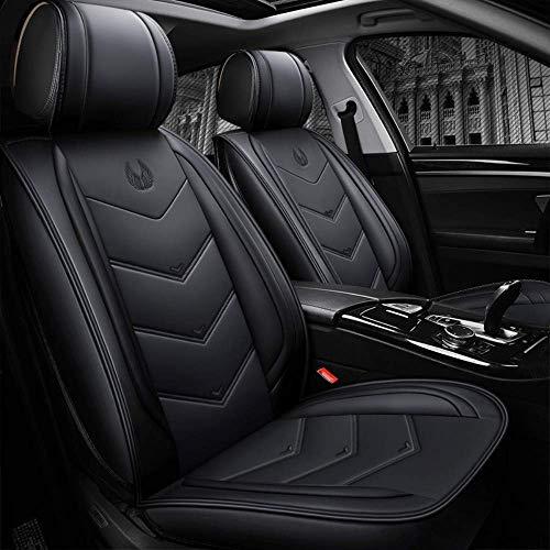 Chemu - Juego de fundas de asiento de piel sintética para Mercedes Benz W203 W204 W205 W211 W212 W213 W124 GLK GLC W164 W166 GLE (negro)